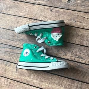 Hand painted Cupcake high top converse